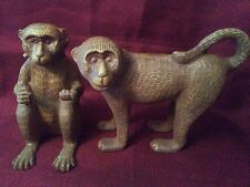 Set Of Two Iron/Bronze Chimpanzees in Great Condition.