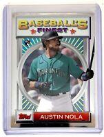 2020 Topps Baseball's Finest Flashbacks #132 Austin Nola RC Rookie Mariners