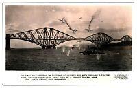Antique WW2 military RPPC postcard The First Nazi Air Raid On Scotland 1939