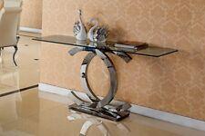 Juwel Designer Spiegelkonsole Schminktisch Sideboard Konsole Glas Edelstahl