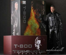 "Crazy Toys T-800 Terminator Figure 12"" Statue Battle Damaged Toy Gift Xmas"