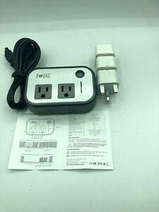 Foval Power Step Down 220V to 110V Voltage Converter with 4-Port USB Internation