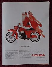 1963 Print Ad Honda CA-95 Motorcycle Mini Bike ~ Sexy Girl Santa's Helper X-Mas
