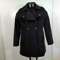 OLD NAVY Wool Peacoat Jacket Pea Coat Womens Size S Gray