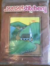 Embroidery Quilted Country Church Sunset Stitchery Beginning Kit Sealed