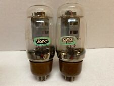GEC KT66 Twin Halo Brown Base Very Close Matched Pair Tested Strong