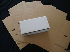 5 White Corrugated Shipping Box 8x4x3 Sunglasses Cardboard Carton Packing Mailer