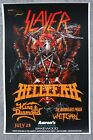Slayer autographed gig poster Gary Holt, Tom Araya, Paul Bostaph, Kerry King