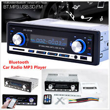 1Din Car In-dash Stereo Player Audio Bluetooth Fm Radio Receiver Sd Usb Mp3 Aux