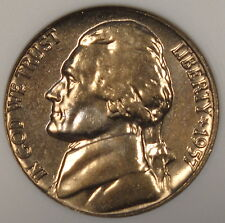 1957 Jefferson Nickel ANACS MS-65 5 Steps PQ Old Small Holder