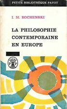 La philosophie contemporaine en europe (Poche) de Bochenski