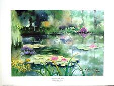 "Brenda Harris Tustian ""Reflecting With Monet"" LTD ED S/N fine art print Giverney"