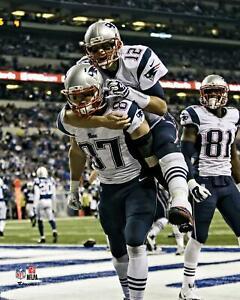 """Tom Brady and Rob Gronkowski New England Patriots TD Celebration 8"""" x 10"""" Photo"""