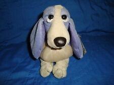 "Hush Puppies Plush Beanbag Applause 4.5"" Tall W/Tags light purple & cream color"