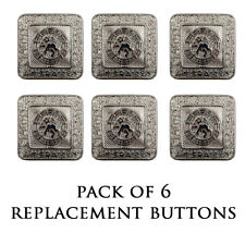 NEW REPLACEMENT NICKEL PRINCE CHARLIE/ARGYLL JACKET BUTTON - LARGE