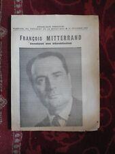 PROGRAMME DE FRANCOIS MITTERRAND ELECTION PRESIDENTIELLE 1965