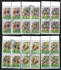 Hungary 1990 Sc=3241-3246 Used of 4 World Cup Soccer Championships, Italy