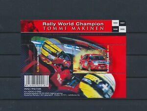 LO64748 France Tommi M�kinen rally racing cars good sheet MNH