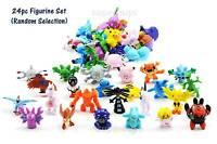 24pc Pokemon Go Figurine For Kids Cake Decoration Topper Figure Toy Action Set