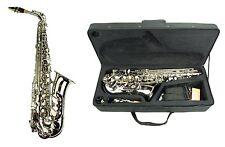 NEW Merano E Flat Silver Nickel Alto Saxophone,Case Student Orchestra Band