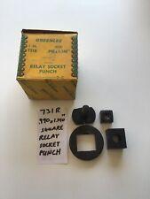 "Greenlee No 731R .990 X 1.140"" Square Relay Socket Punch EUC 11-1"
