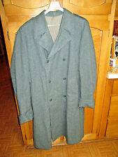 Vintage SWISS ARMY Military Long Trench Coat Gray Wool Men's XL 50AA