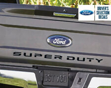 2017 Ford F250 F350 Super Duty TAILGATE Letters Insert Decals Stickers Inlays