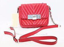 NWT Michael Kors Handbag Susannah Lock Cherry SM Messager Leather # 30H5SZIM1T