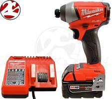 "Milwaukee 2753-22 M18 FUEL 18V Brushless 2753-20 1/4"" Impact Driver 5.0 Ah Kit"
