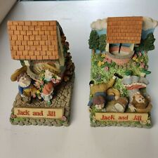 More details for vintage nursery rhyme bookends jack and jill leonardo collection