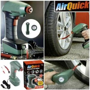 Air Quick Automatic Tyre Inflator Car Compressor Pump Bike 14FT Long Cable 12V