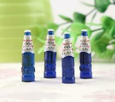 4 Dollhouse Miniature Blue 1664 Blanc Wine Beer Bottle Bar Drink Beverage 1:12