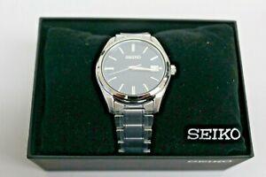 Seiko Quartz Men's Blue Dial Stainless Steel Bracelet Watch