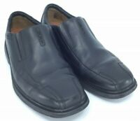 Clarks Unstructured Un.Sheridan Loafer Men's 8.5M Black Leather Bicycle Toe Shoe