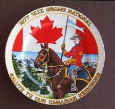 1977 W I T GRAND NATIONAL Souvenir Plate WINNEBAGO INDUSTRIES Canada Forest City