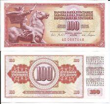 YUGOSLAVIA BILLETE 100 DINARA 1965 7 DIGITOS P 80