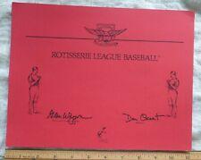 Rotisserie League Baseball League Signed Glenn Waggoner Indy Franchise Paperwork
