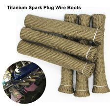 8Pcs 2500° Sleeve Heat Shield Cover Spark Plug Wire Boots Double-wall Protector