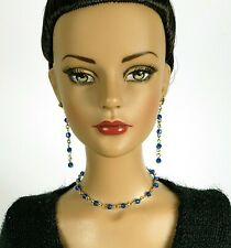 "14K Gf Capri Blue Crystal Jewelry for 16"" Fashion Dolls Tonner JamieShow Ellow"