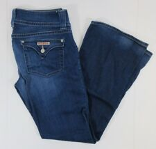 Hudson Dark Medium Wash Blue Flare Jeans Button A Flap Pockets 30 x 29 Denim