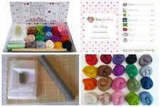 Heidifeathers® Boxed Premium WET FELTING Kit - '20 Merino Colours' - Bamboo Mat.