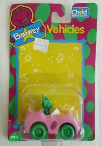 "MOC 1993 BARNEY VEHICLES BABY BOP'S 2.5"" FUN MOBILE TOY BY CHILD DIMENSION LYONS"