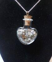 LOT Natural Rough Diamonds TCW 20 Pendant Silver Necklace Heart Healing Energy
