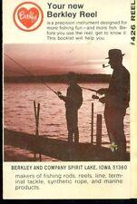 BERKLEY Fishing Reel #426 fold-open 8-page user's booklet