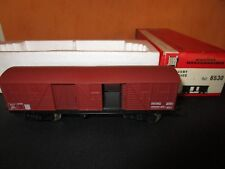 WAGON COUVERT BOGIES +BOX JOUEF HO CARRIAGE REF 6530