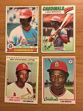 4 O Pee Chee OPC Lou Brock Cards 1977 1978 1978 HOF er St. Louis Cardinals