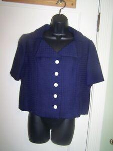 Vintage Saks Fifth Avenue Blazer Blue Coat Sm
