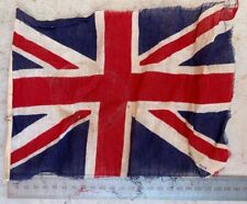 Original WW2 British Army Small Vehicle Flag - Union Jack - Found Normandy