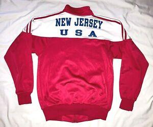 VTG 90s Adidas Warm-Up Track Jacket Mens M New Jersey USA 1991 Special Olympics