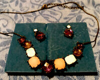 Avon 2008 Romantic Collar Necklace And Earring  Set